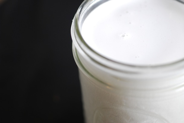 homemade Coconut Milk with Fresh Coconut
