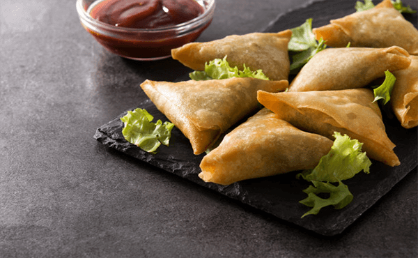 Homemade Chicken Samosa