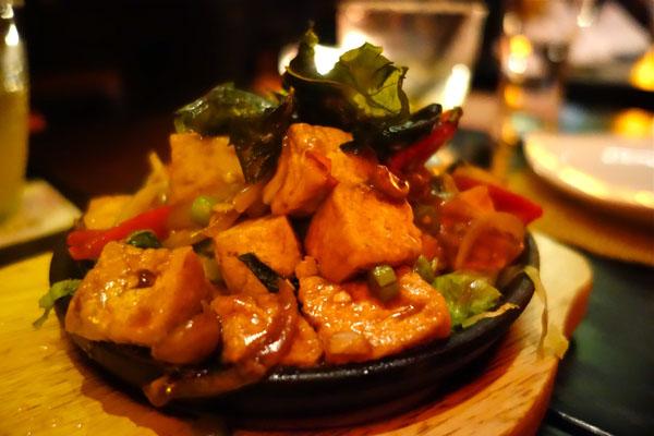 Fish Vegetable Sizzling Platter
