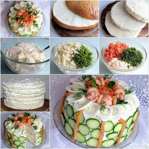 Step by Step Cold Sandwich Cake
