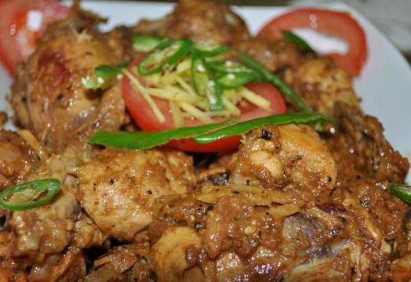 Homemade Chicken Brown Karahi