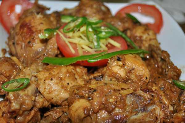 Homemade Chicken Brown Karahi