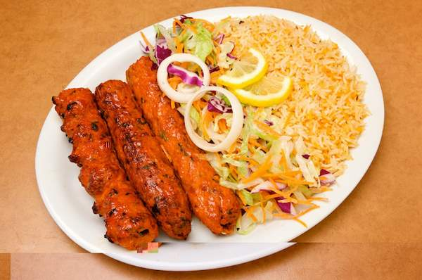 Easy Mexican Rice with Kabab
