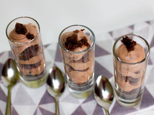 Brownies with Chocolate Mousse