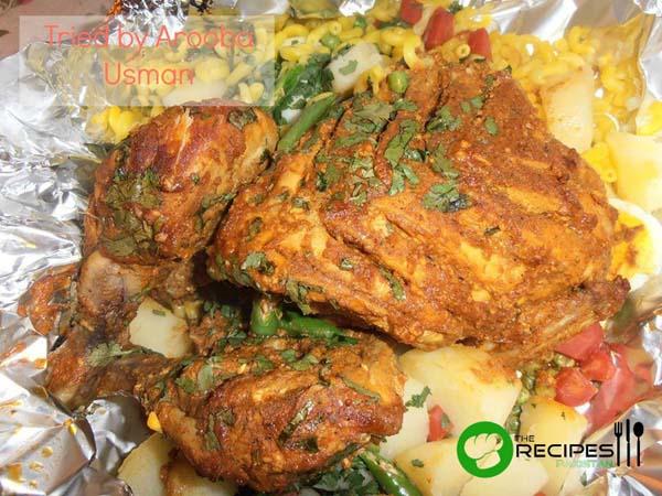 Homemade Foil Chicken