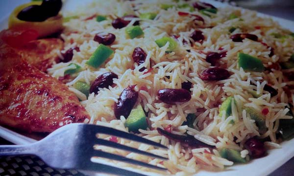 Jamaican Rice with Grilled Chicken