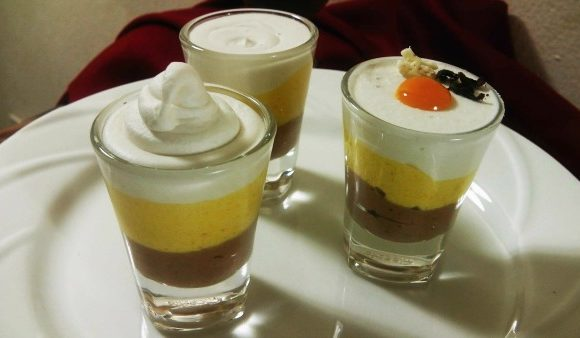 No Bake Three Layered Mango Pudding