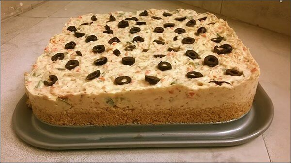 Chicken And Vegetable Cheese Cake