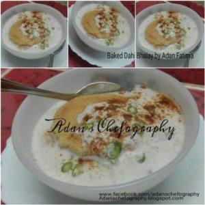 Homemade Baked Dahi Baray