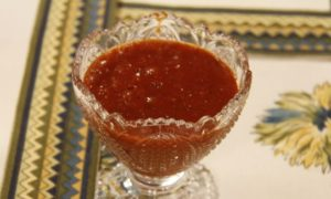 Homemade Meethi-Samosa-Chutney