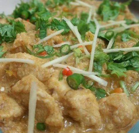 Creamy Chicken Cheese Handi Recipe