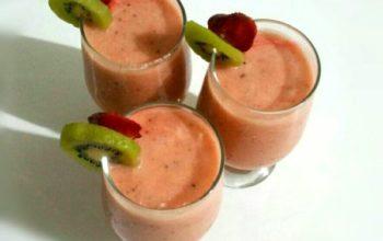 homemade fruit slush