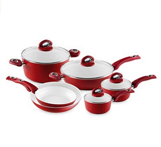 Bialetti Aeternum Red 10 Piece Cookware Set