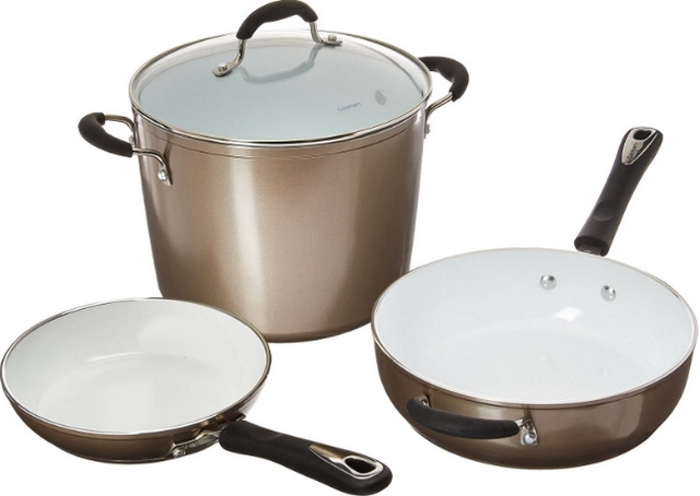 Cuisinart Ceramic Nonstick 10-Piece Cookware Set