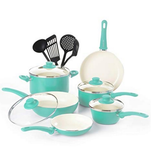 GreenLife Soft Grip Absolutely Toxin-Free Healthy Ceramic Nonstick Set