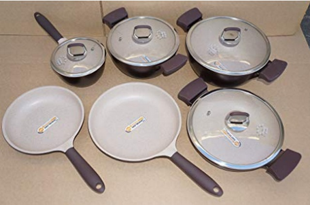 on-stick German Weilburger Ceramic Coating Cookware Set