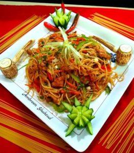 Spicy Chicken Fajita Noodles