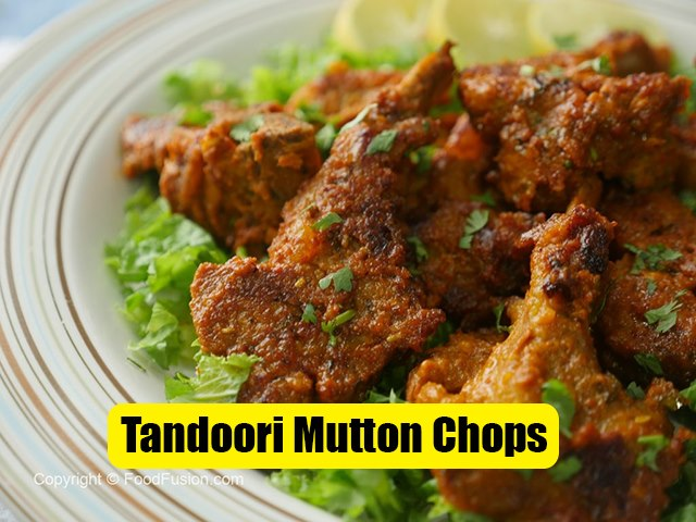 Tandoori Mutton Chops Recipe
